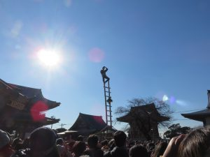 Hashigonori, the New Year Acrobatic Performance & Temple Tour in IKEGAMI @ Ikegami Honmonji Temple | Ota City | Tokyo | Japan